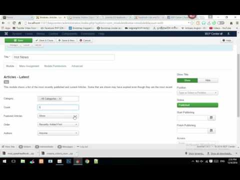 Add Latest Article To Position In Joomla Krumony