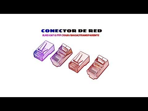 Video de Conector de red RJ45 CAT6 FTP (10ud/bolsa)  Transparente