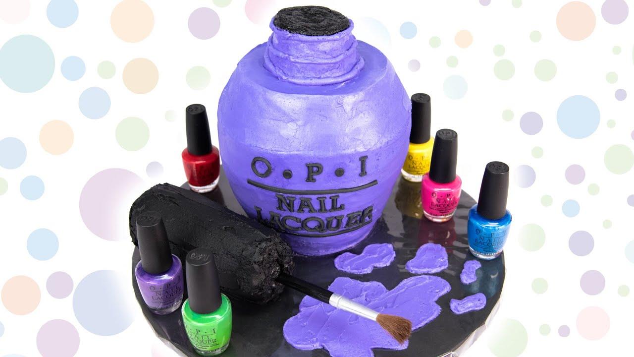 opi nail polish bottle cake