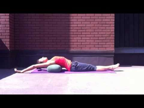 5 yoga poses using a bolster w/ rebecca pacheco  youtube