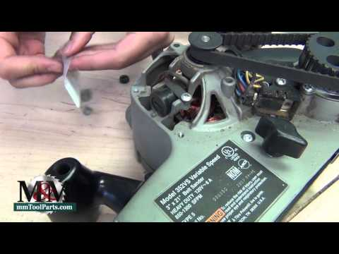 Porter Cable 352VS Belt Sander - Brush replacement