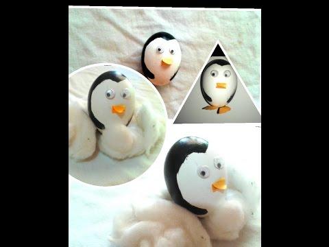 how to make  penguin using egg ; creative use of egg shell, craft for kids