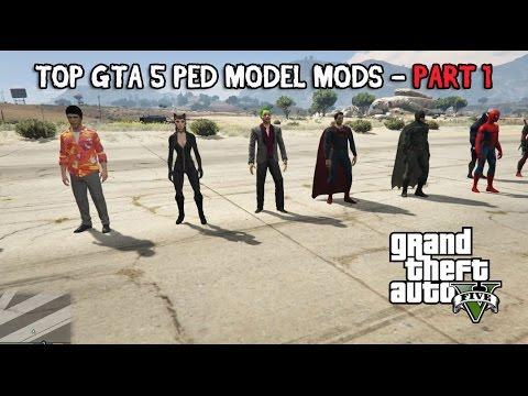 Top Gta 5 Ped Mods - Part 1 - Batman, Deadpool, Spiderman and more