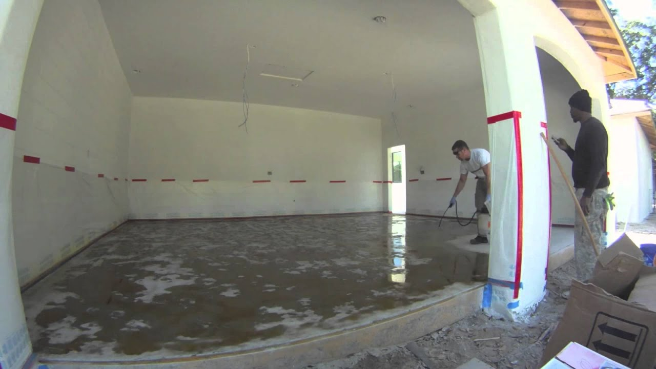 acid stain concrete floor