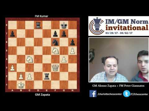Round 2: GM Alonso Zapata's Win Over FM Kumar