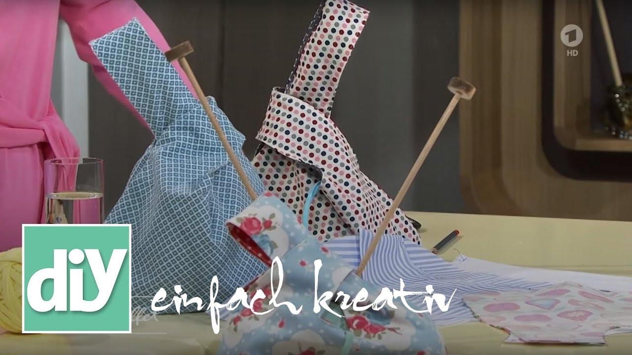 Japanische Knotentasche nähen | DIY einfach kreativ - YouTube