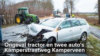 Baixar Ongeval tractor en twee auto's Kamperstraatweg Kamperveen - ©StefanVerkerk.nl