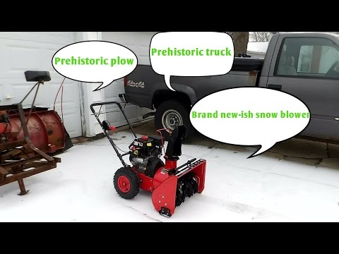 "Powersmart two stage 22"" snow blower review!"