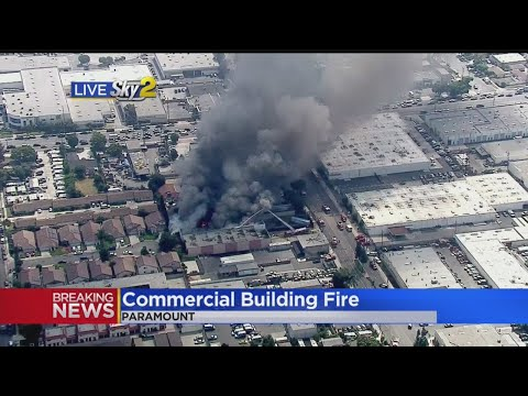 Firefighters Get Control Of Commercial Building Fire In Paramount