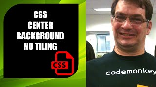How to place a background center image in html & css with no tiling