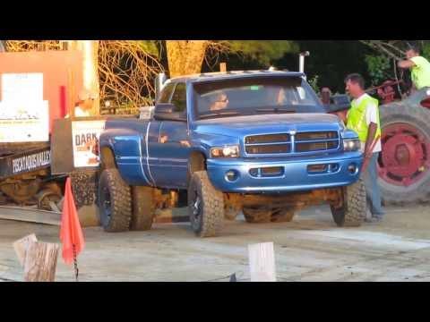 Monster Dodge Cummins Dually Truck Pull (Girl Driver)