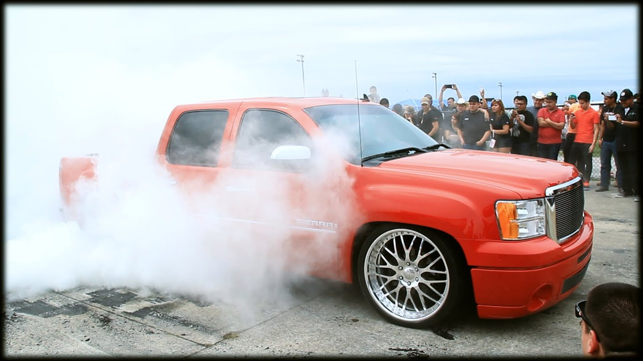 HPT Truck Shootout 2014 Burn Out Contest @Royal Purple ...