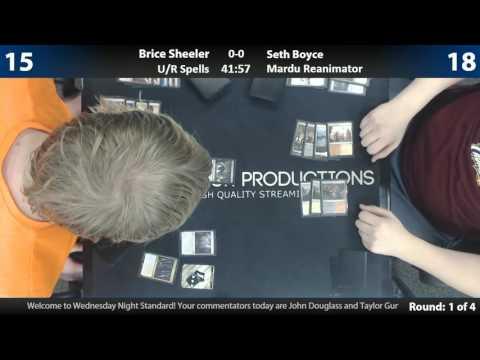 Standard 11/30/16: Brice Sheeler (U/R Spells) vs Seth Boyce (Mardu Reanimator)