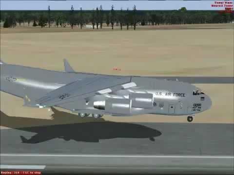 Flight Simulator  Boeing  C - 17 Globe Master 3  do Chile ao Uruguay / SCEL - SUMU)