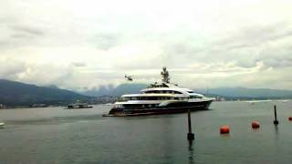 Helicopter Takeoff from Yacht Attessa IV in Vancouver