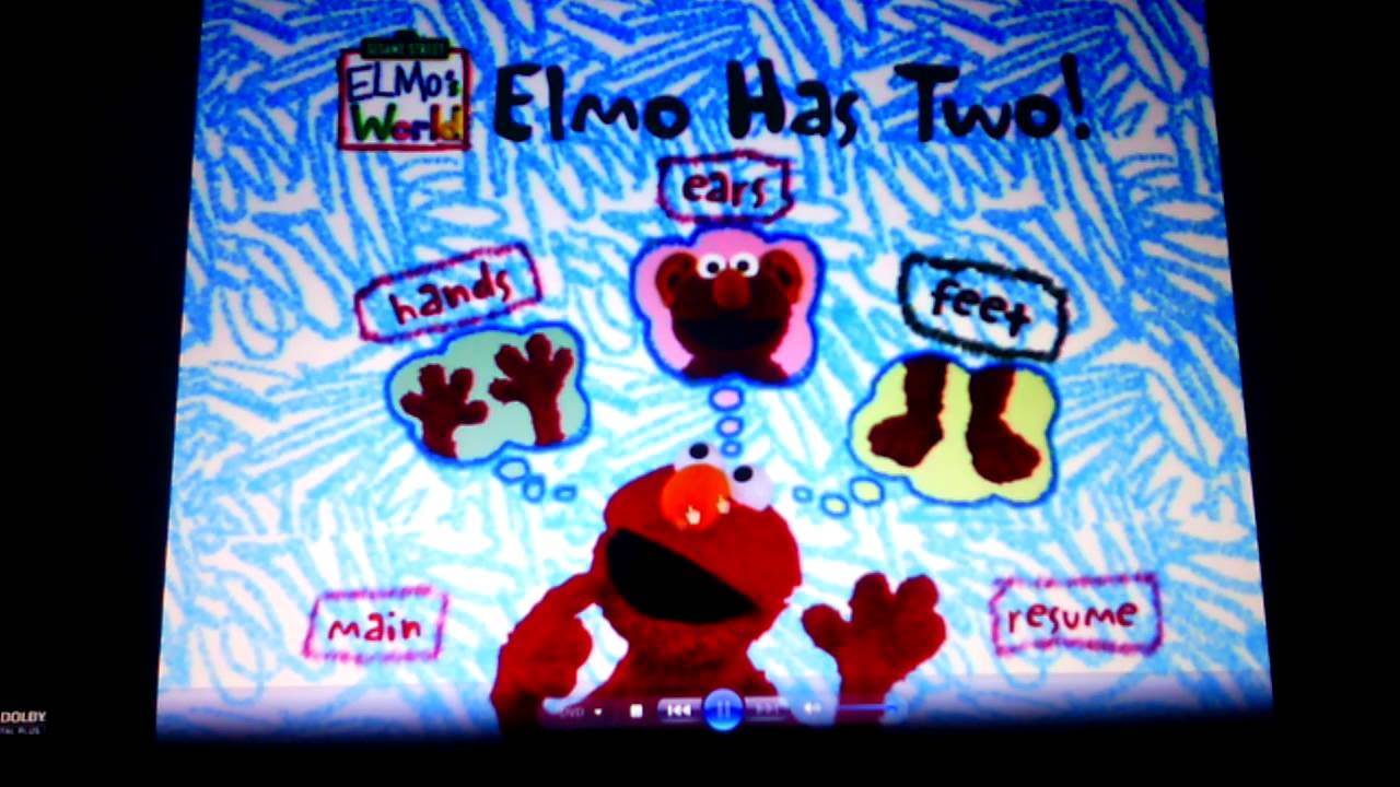 Elmo's World- Elmo Has Two! Menu Walkthrough - YouTube