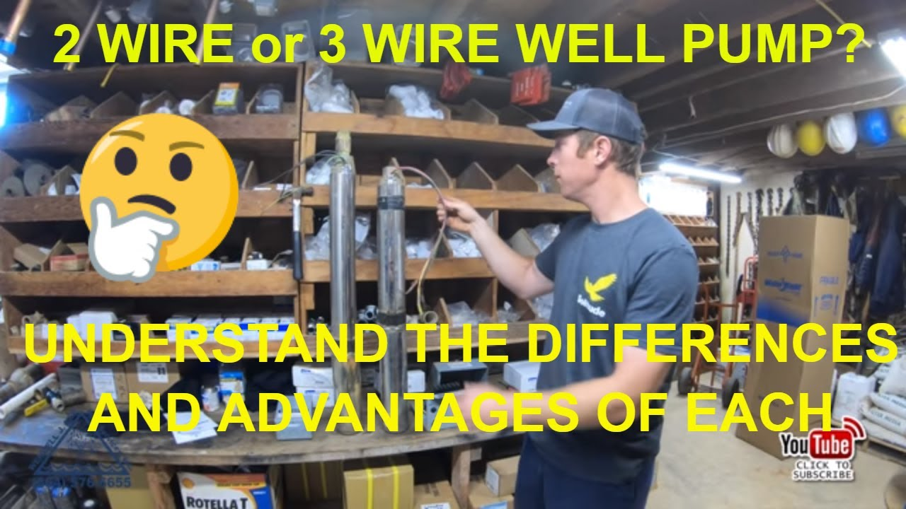 2 wire and 3 wire submersible well pump motor wiring differences explained