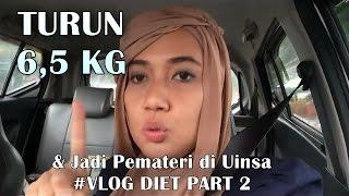 TURUN 6,5 KG dalam 4 MINGGU !!!  | JADI PEMATERI DI UINSA SURABAYA | VLOG Cerita Diet Part 2