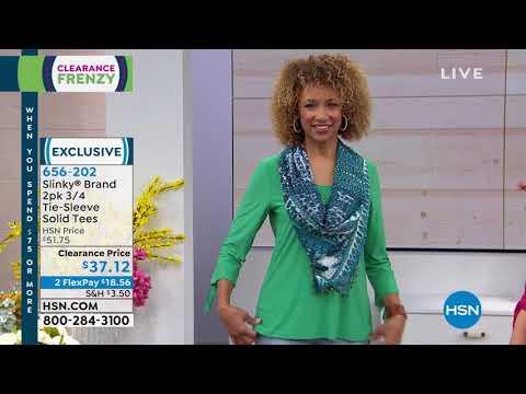 Slinky Brand 2pk 3/4 TieSleeve Solid Tees. http://bit.ly/2FwJ1RD