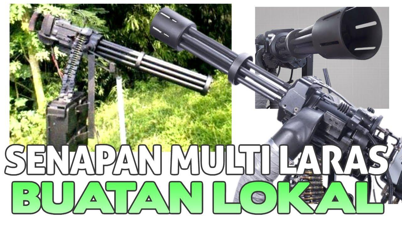 Senapan Mesin Multi Laras/Minigun Buatan Lokal INDONESIA