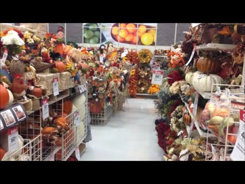 Halloween autumn fall thanksgiving aisle in michaels for Michaels craft store watches