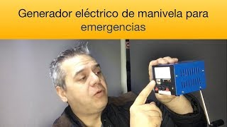 Cómo generar energía con movimiento Generador eléctrico manual