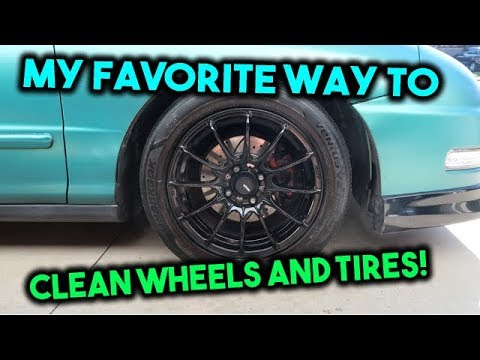 My Favorite Way To Clean Rims and Tires!!