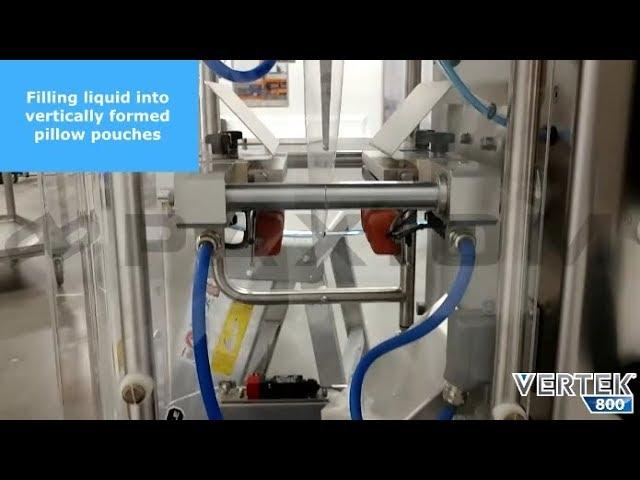 VerTek® 800 Vertical Form Fill Seal Machine - Bagging liquids and powders