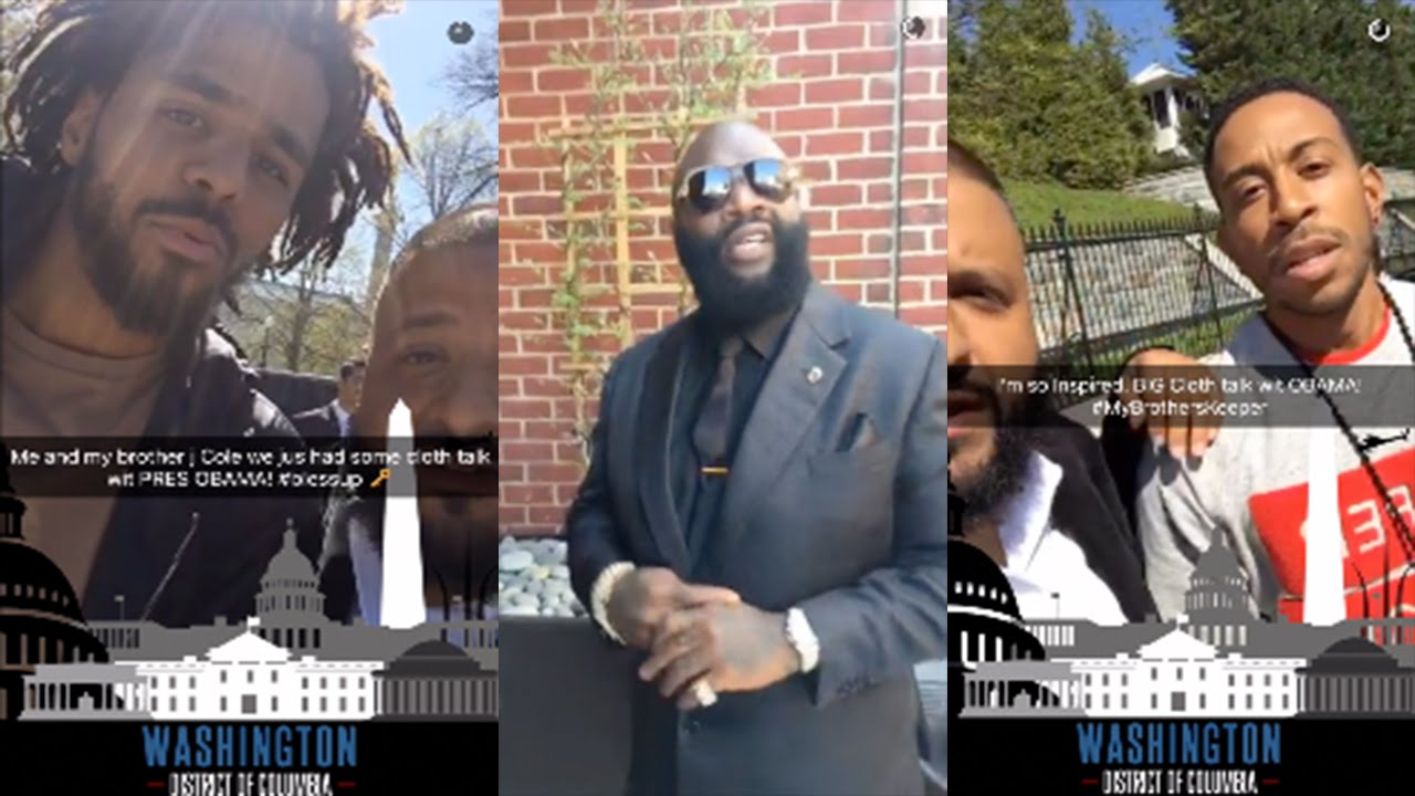 Nice J. Cole, Dj Khaled, And Rick Ross Visit President Obama At White House  #mybrotherskeeper   YouTube