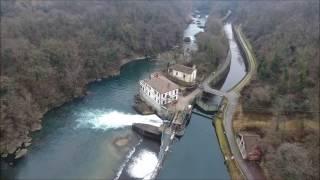 Ponte San Michele Calusco Paderno Diga di Robbiate Fiume Adda Drone Phantom 4