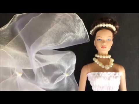 Brautkleid für Modepuppe-selber nähen - YouTube