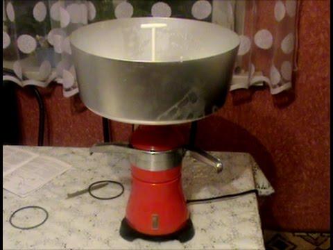 Как собрать сепаратор для молока видео