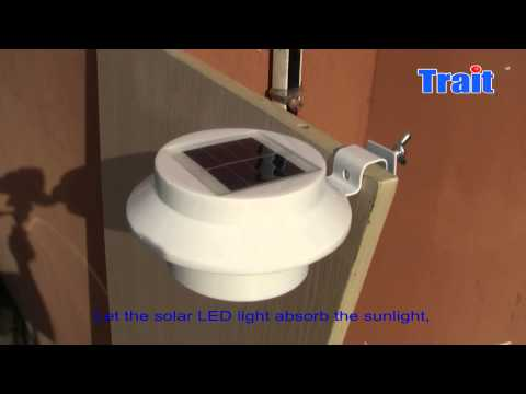 White Sun Power Smart LED Solar Gutter Night Utility Security Light