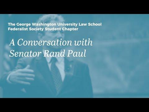 A Conversation with Senator Rand Paul at GW