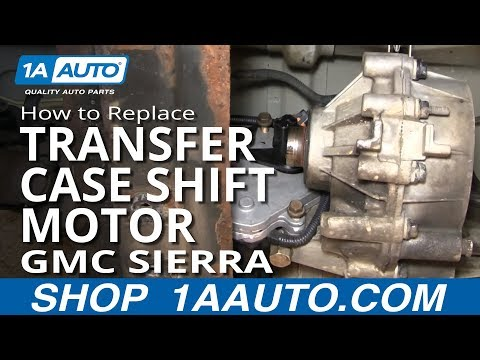 How to Replace Transfer Case Shift Motor 01-02 GMC Sierra 2500 HD