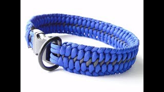 How to Make a Paracord Dog Collar-Wide 6 Strand Core Mated Half Hitch