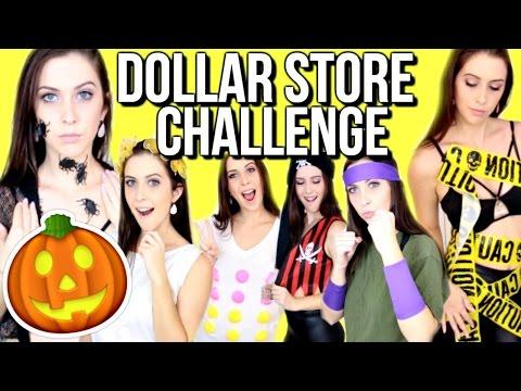DOLLAR STORE HALLOWEEN COSTUME CHALLENGE! | Courtney Lundquist