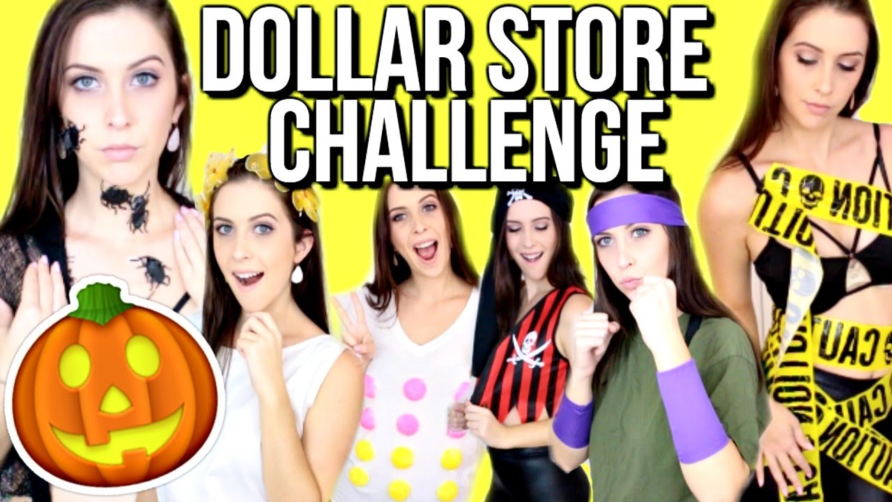 dollar store halloween costume challenge courtney lundquist youtube - Store For Halloween Costume