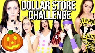 DOLLAR STORE HALLOWEEN COSTUME CHALLENGE! | Courtney Lundquist