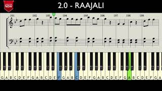 2.0 - RAAJALI ( HOW TO PLAY ) MUSIC NOTES