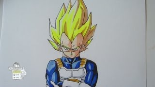 How to draw Super Saiyan Vegeta from Dragon Ball Z ベジータ