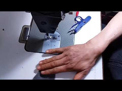 (passepoilee double avec rabat)خياطة وتفصيل الجيب المزدوج سروال او قميس
