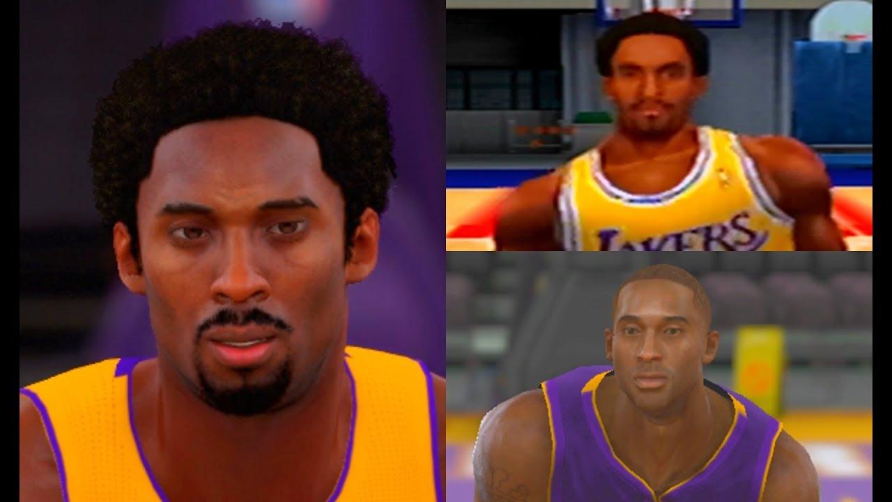 Kobe Bryant From Nba 2k To Nba 2k18 Youtube