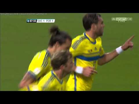 Zlatan Ibrahimovic scream at Pepe after score a goal - Sweden vs Portugal