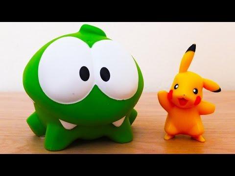 Видео: Поиграем вместе! - Ам Ням ищет Покемона. Om Nom Pokemon Go. Новое приключение.
