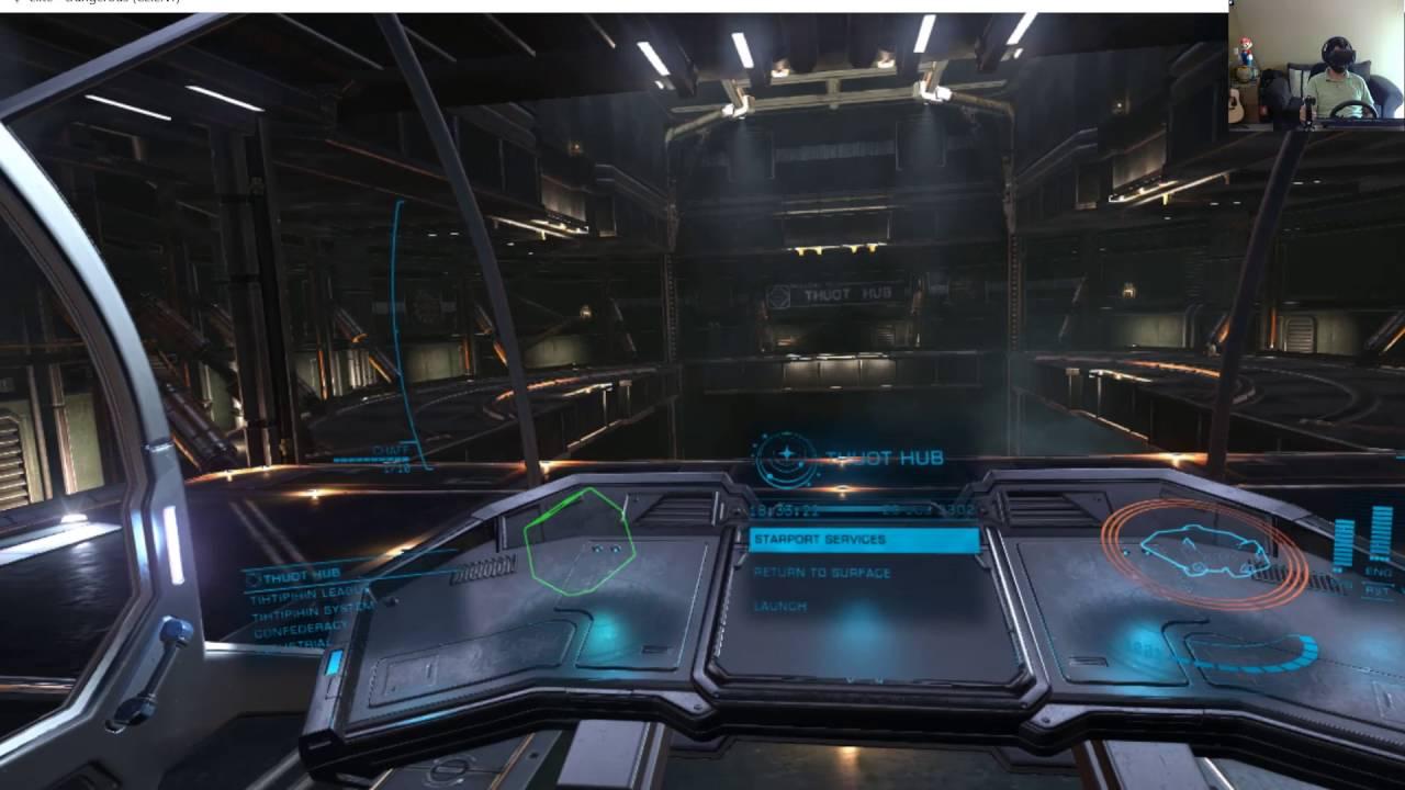 Elite: Dangerous VR [Advanced Mods] Live on Twitch w/ CyberOcelot