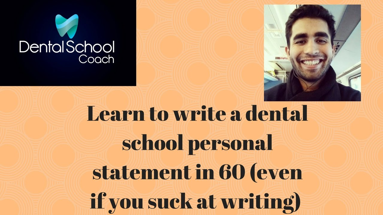 personal statement for dental school