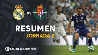 Resumen de Real Madrid vs Real Valladolid (1-1)