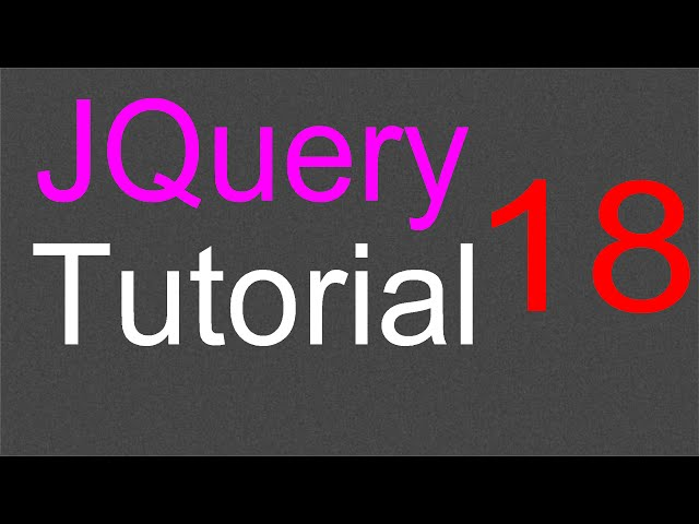JQuery Tutorial for Beginners - 18 - Events