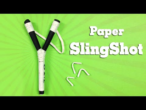 Simple life hack How to make a Paper Gun Slingshot very simple and strong - Toy Weapon